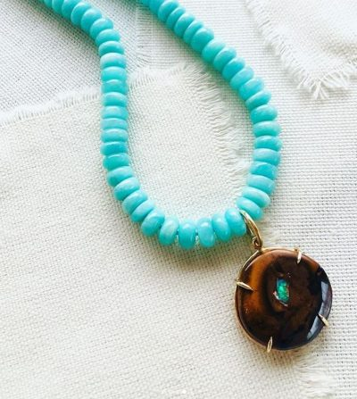 Amazonite Yowah Opal Necklace by Luchia McKinnon - LMK224