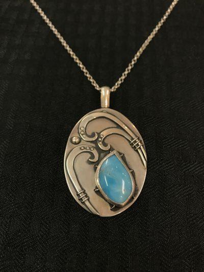 Larimar Necklace by Stone O'Daugherty - SOJ517