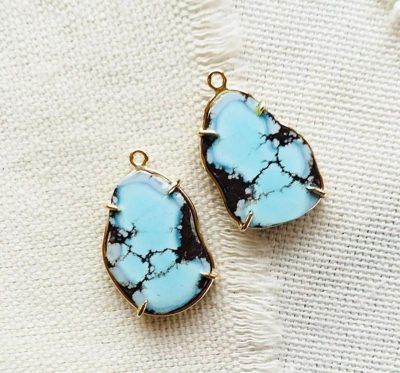 Lavender Turquoise Earrings by Luchia McKinnon - LMK215