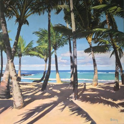 """Mama's Fish House Palm Trees"" by Stacy Vosberg - STV17"