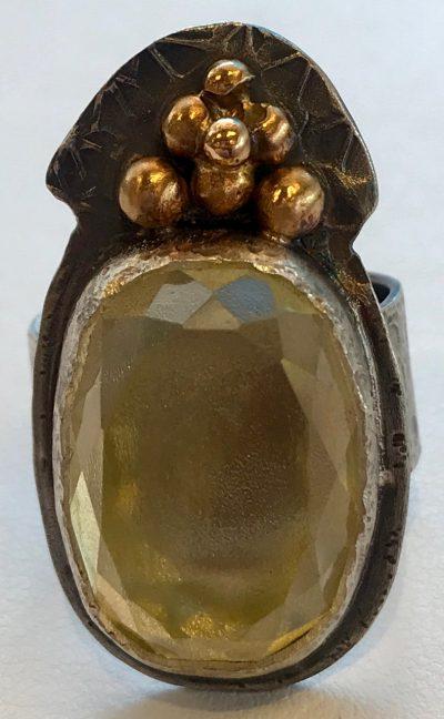 Pineapple Citrine Ring by Pamela Street - PKS0535