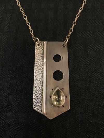 Prasiolite Medal Necklace by Stone O'Daugherty - SOJ593
