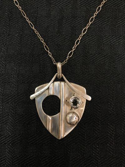 Prasiolite Shield Necklace by Stone O'Daugherty - SOJ508