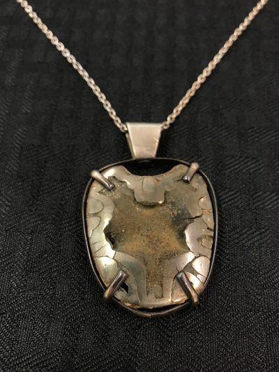 Pyritized Ammonite Necklace by Stone O'Daugherty - SOJ537