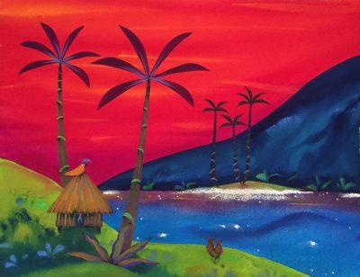 """Red Set Sun"" by Kirsten Bunney - KIB03"