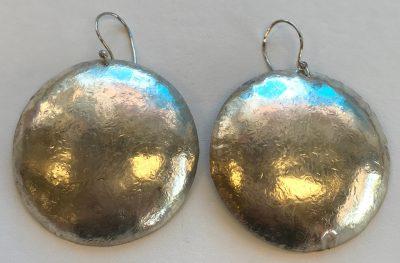 Silver Disk Earrings by Pamela Street - PKS0546