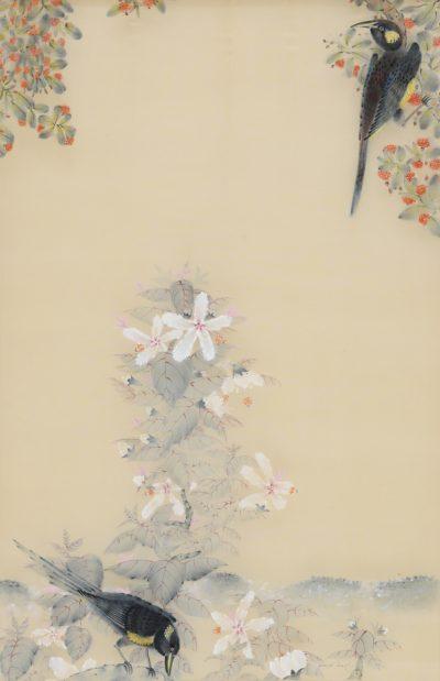 """Bishop's 'Ō'ō (Extinct) with Hibiscus"" by Terris Temple - TET21"