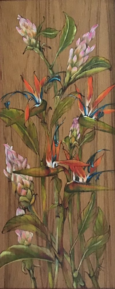 """""""Pink Ginger and Birds of Paradise"""" by Christine Halton - CH562*"""