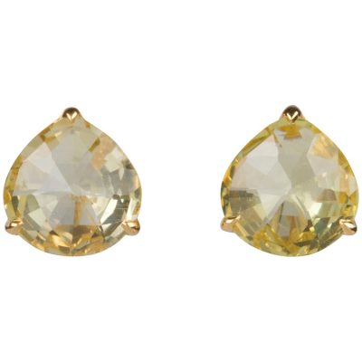 Lemon Quartz Earrings in gold vermeil - Amata Jewelry by Ladini - Handcrafted in Hawai'i