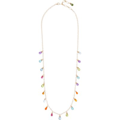 """Anuenue (Rainbow) Necklace, 14K gold-filled chain, 18"""" length - Amata Jewelry by Ladini - Handcrafted in Hawai'i"""