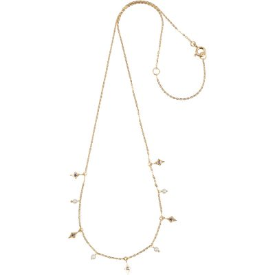 Pearl and Iolite Necklace in gold vermeil - Amata Jewelry by Ladini - Handcrafted in Hawai'i