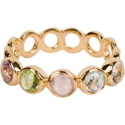 Rainbow Haku Lei Ring in gold vermeil - Amata Jewelry by Ladini - Handcrafted in Hawai'i
