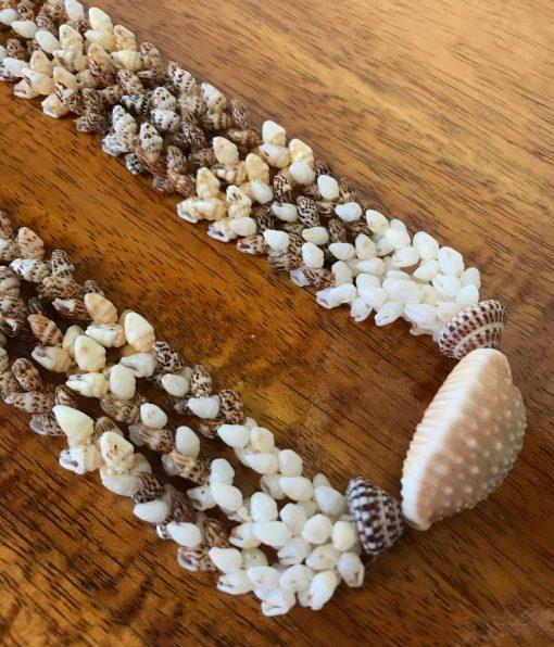 "Niʻihau Collectors' Lei, 56"" 3-Strand Kipona. Crafted by master artisan Corey Karleen."