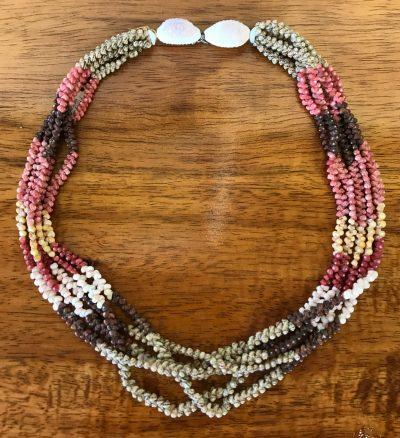 "Niʻihau Collectors' Lei, 19"" 5-Strand Patch Patch Mauna Loa"