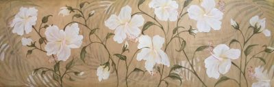 """White and Gold Hibiscus"" by Christine Halton - CH576"