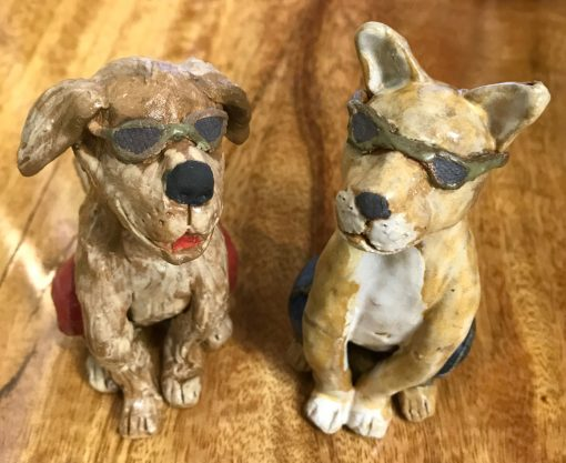 Dog and Cat with Sunglasses by Robin Fahey Cameron - Examples - RFDC75 and RFCC75