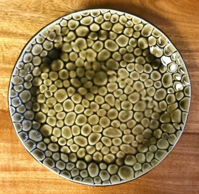 Serving Plate by Curt Stevens - Green Bubbles Example - CURT045