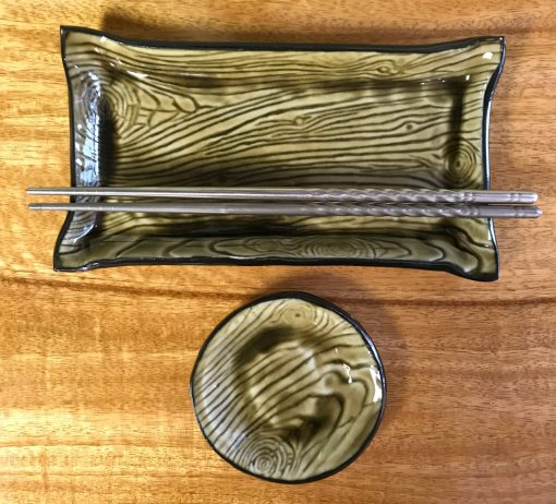 Sushi Set by Curt Stevens - Green Bark Example - CURT038