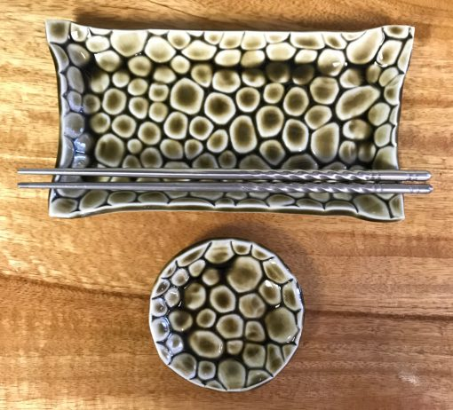 Sushi Set by Curt Stevens - Green Bubbles Example - CURT038