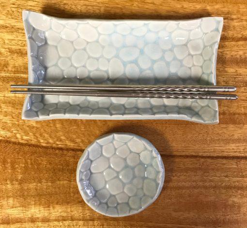Sushi Set by Curt Stevens - Pale Blue Bubbles Example - CURT038