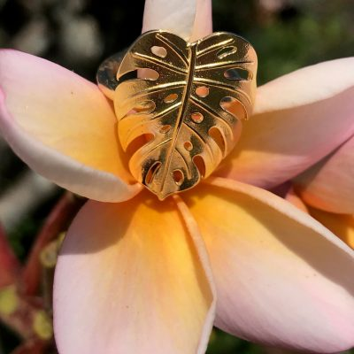 Monstera Leaf Ring - AMAR444