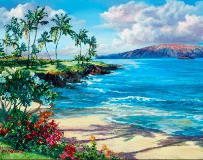 """Beach At Wailea"" by Betty Hay Freeland"
