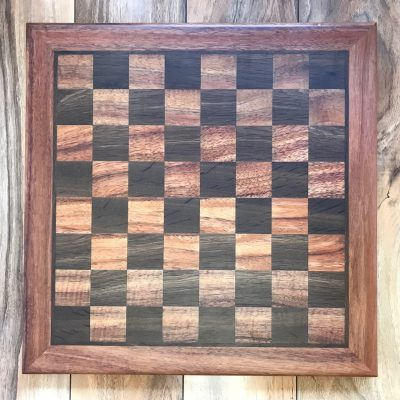 Chess Board in Koa/Oak by Tyler Jellum - Chess Pieces Included with Purchase