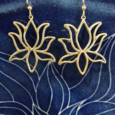 Extra Large Lotus Earrings by Dian Anderson - DIA1388