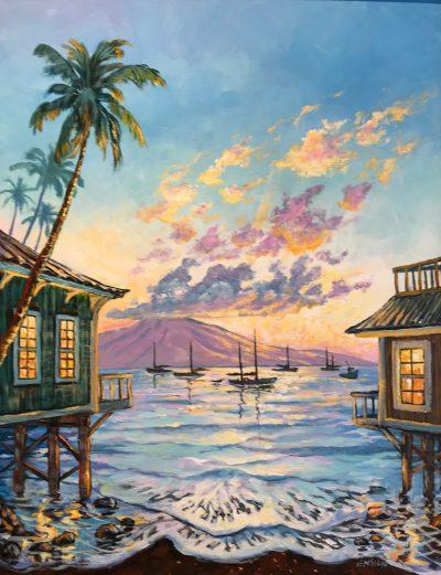 """""""Front Street Sunset"""" by John Ensign - JCE58"""