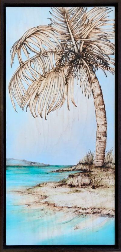 """""""Gray Palm"""" by Christine Halton - CH578"""