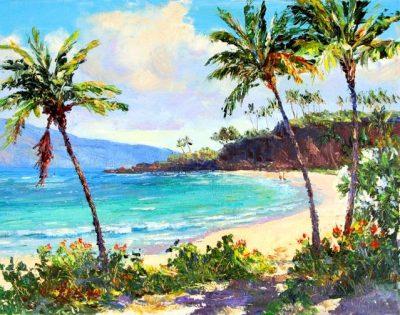 """""""Ka'anapali Beach Stroll"""" by Betty Hay Freeland"""