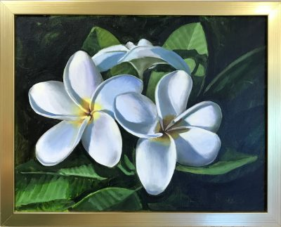 """White Plumeria"" by Steve Rinaldi - SMR202"
