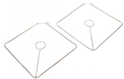 Open Angle Hoop Earrings by Yasha - YAS609E
