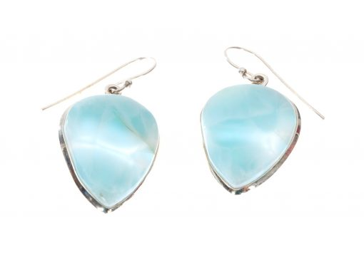 Larimar Heart Dangle Earrings by Yasha - YAS612E