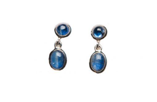 Kyanite Stud Dangle Earrings by Yasha - YAS614E
