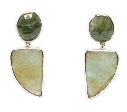 Emerald Slice Dangle Earrings by Yasha - YAS617E