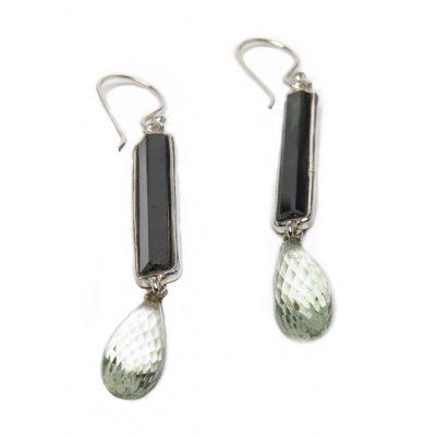 Tourmaline and Crystal Briolette Exclaim Dangle Earrings by Yasha - YAS621E
