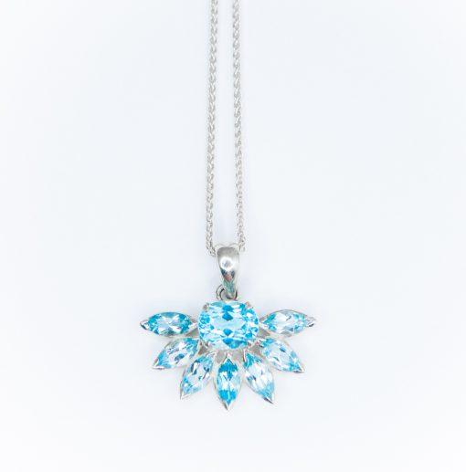 Blue Topaz Pua Necklace by Yasha - YAS627N