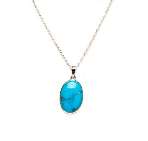 Oval Turquoise Pendant by Yasha - YAS631P