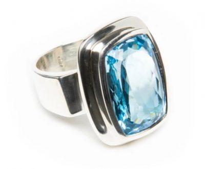 Rectangular Blue Topaz Ring by Yasha - YAS671R