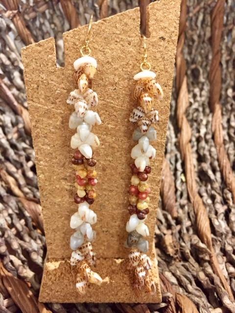 Ni'ihau Earrings, Kipona Dangle - PANC1045b