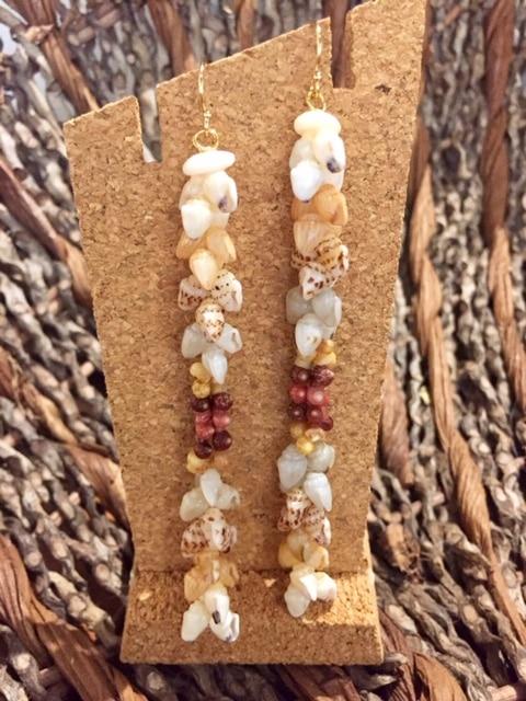 Ni'ihau Earrings, Kipona Dangle - PANC1045c