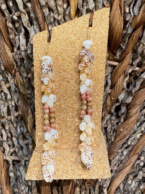 Ni'ihau Earrings, Kipona Dangle - PANC1046-M
