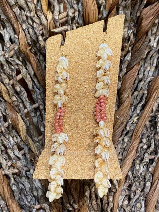 Ni'ihau Earrings, Kipona Dangle - PANC1050-M