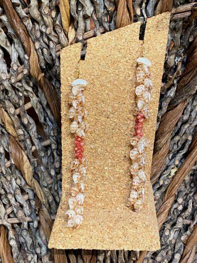 Ni'ihau Earrings, Kipona Dangle - PANC1051-L