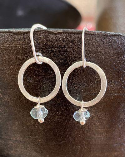 Aquamarine Circle Earrings by Patricia Prats - PAH002A