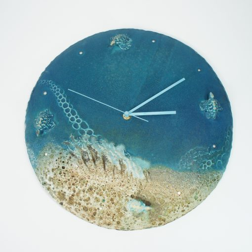 Clock by Lee Plevney - Deep Turquoise