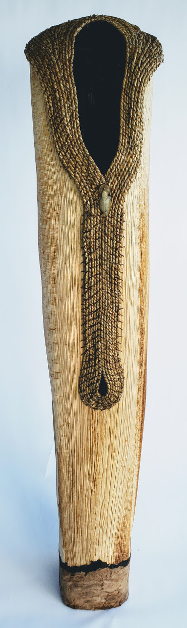 """Nature's Shawl"" Sheath with Coiled Sea Grass by Dee Chapon - Front View - DEE24"