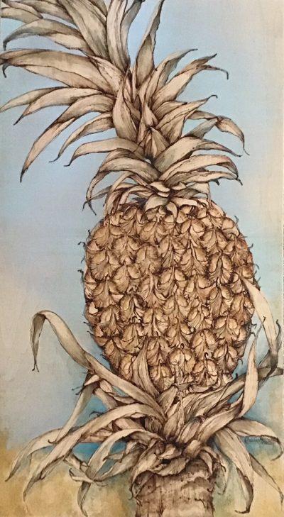 """Sweet Golden Pineapple"" by Christine Halton - CH579"