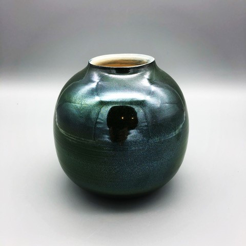 Metallic June Vase, Round by Brooke Auchincloss - BAU028